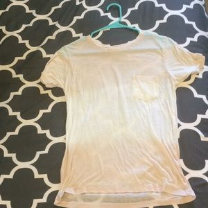 Hollister Tops - Light pink/cream tie dye, sheer T-shirt